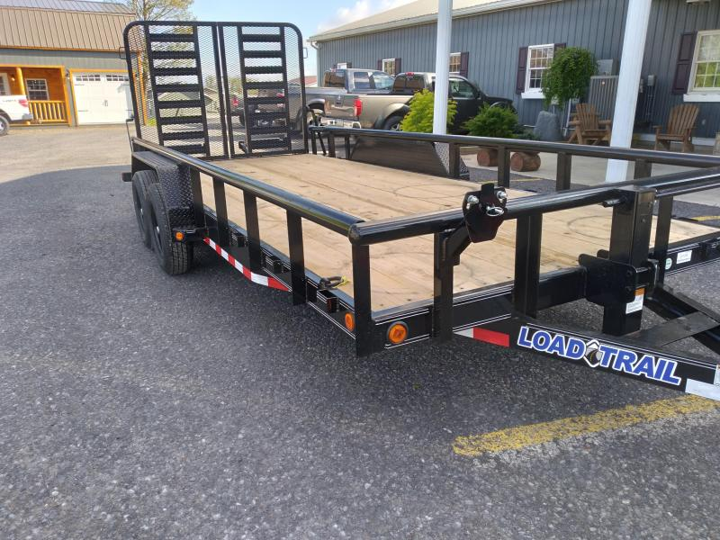 2021 Load Trail Tandem Car Trailer / 9990 GVWR / 83x18 / Split Rear Gate