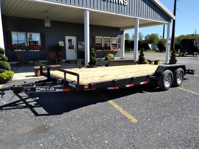 """2022 Delco Trailers Car Hauler / 20'x83"""" / 7000 GVWR / Removable Fenders"""