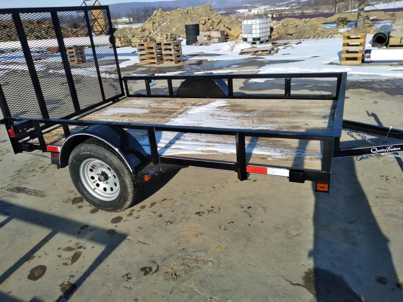 "Quality Trailers General Duty Single Axle Landscape 10'X77"" -4' Landscape Gate -3""x3""x3/16"" Angle Frame -3"" Channel Tongue -2""x2"" Angle Top Rail -15"" Nitrogen Filled Radial Tires"