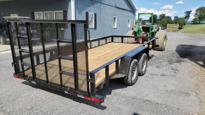 """2021 Quality Trailers 18' General Duty Utility 7K GVWR- 82"""" Between Fenders- 3""""x3""""x3/16"""" Angle Frame and Top Rail- 3"""" Channel Cross Members- 4"""" Wrap Around Tongue- 2 5/16"""" Coupler- 4' Spring Assist Rear Gate- 15"""" Nitrogen Filler Radial Tires 6 Ply"""