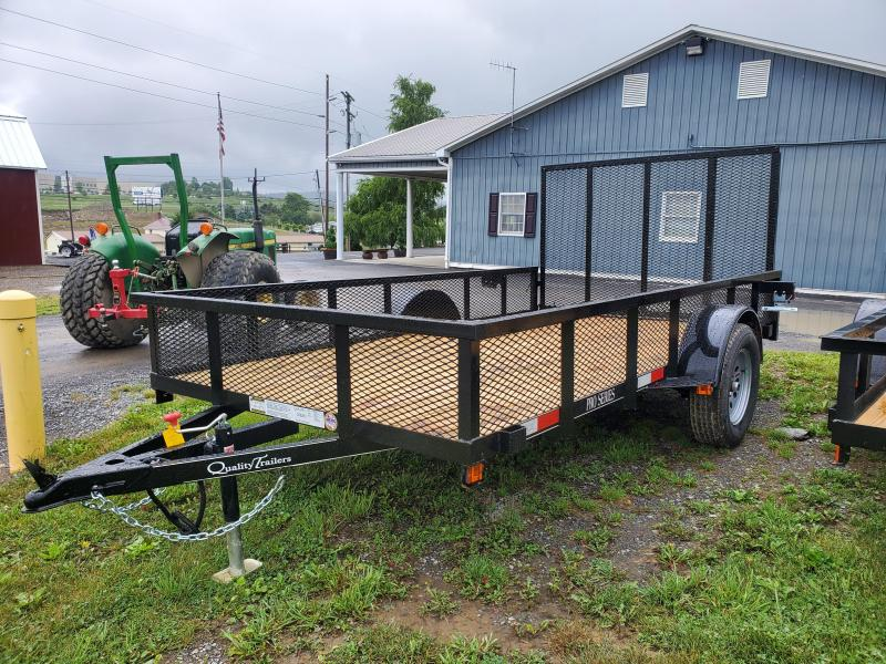 """Quality Trailers Pro Grade Single Axle Landscape 12'X77"""" MESH Sides -4' Landscape Gate -3""""x3""""x3/16"""" Angle Frame -3"""" Channel Tongue -2""""x2"""" Square Tube Top Rail -15"""" Nitrogen Filled Radial Tires"""