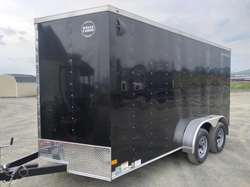 """2021 Wells Cargo Fast Trac Enclosed - 7x14 - 7000 GVWR - Rear Ramp Door - 36"""" Side Entry Door - Deluxe Package"""