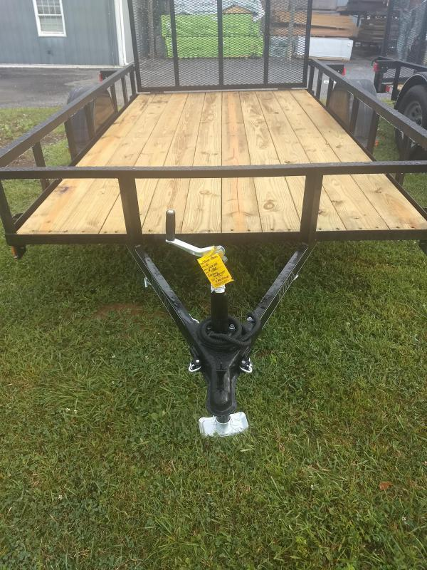 """Quality Trailers General Duty Single Axle Landscape 10'X77"""" 2990 GVWR -4' Full Landscape Gate -2""""x2""""x3/16"""" Angle Frame -2""""x2"""" Angle Top Rail -3500# Idler Axle -15"""" Nitrogen Filled Radial Tires"""