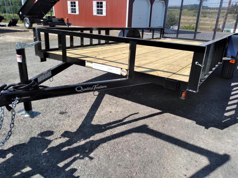 "Quality Trailers General Duty Single Axle Landscape 14'X77"" - 2990 GVWR - ATV Side Rails"