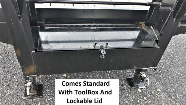 "Pro-Grade Gooseneck Deckover 25' 25K -5' Swing Up Ramps -12"" I-Beam Frame and Neck -Dual 12000# Jacks -10000# Oil Bath Axles -16"" Dual Nitrogen Filled Radial Tires"