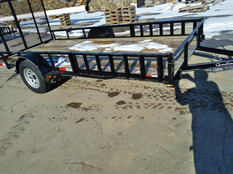Quality Trailers General Duty Single Axle Landscape 14 X77 Optional ATV Rails 4 Landscape Gate 3 x3 x3 16 Angle Frame 3 Channel Tongue 2 x2 Angle Top Rail 15 Nitrogen Filled Radial Tires