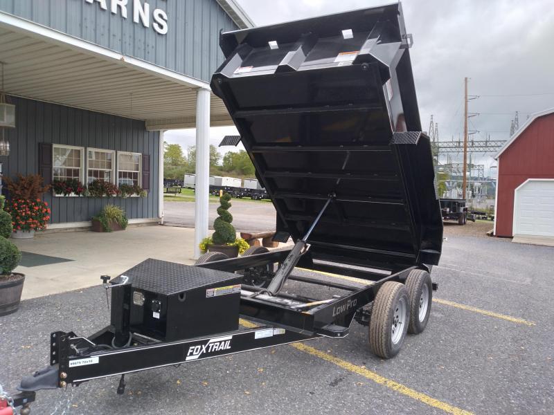 2022 Fox Trail 6000 Series 5' Wide Tandem Axle 10' Dump Trailer