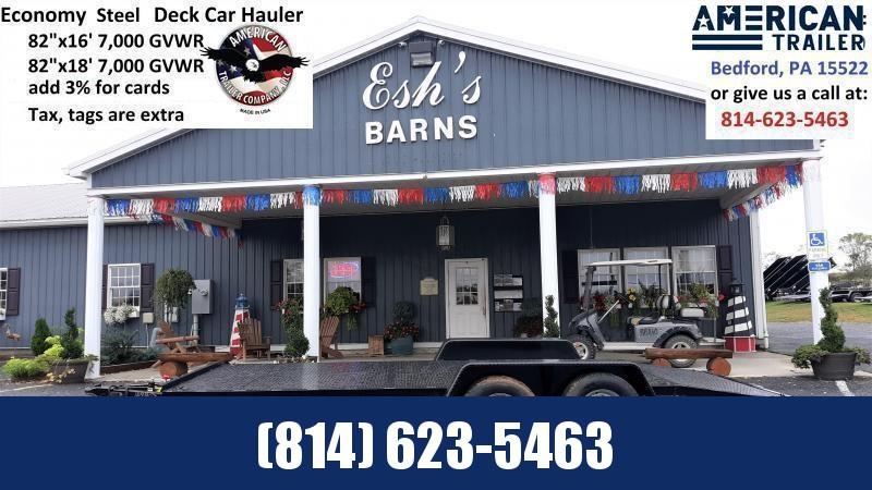 American Trailers Economy Diamond Deck Car Hauler 16' - 7000 GVWR