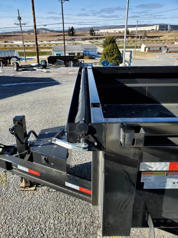"Delco Low Profile Dump Trailer - 83""x14' - 14K Dump Trailer - 24"" sides - Mesh Tarp Kit - Adjustable Coupler"