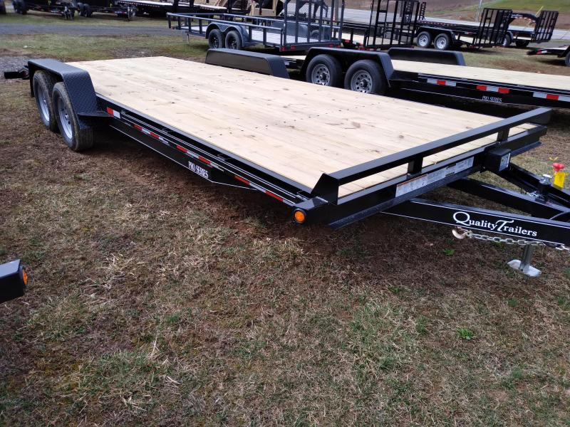 "Quality Trailers Pro Grade Wood Deck SidexSide Hauler 22' 7K -5' Self Storing Ramps -5"" Channel Frame -5"" Channel Tongue -2' Dovetail -Sealed Beam Lighting -Heavy Duty Fenders -15"" Nitrogen Filled Radial Tires"