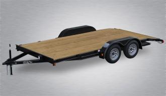 Trailer Baron Economy Wood Deck Car Trailer 16 7000 GVWR 82 Between Fenders 14 Flat 2 Dove Tail 51 Slide in Side Ramps 15 Nitrogen Filled Radial Tires