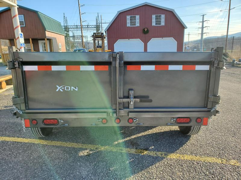 "X-On Low Profile Dump Trailer - 83""x12' - 14K Dump Trailer - 24"" sides - Mesh Tarp Kit - Adjustable Coupler"