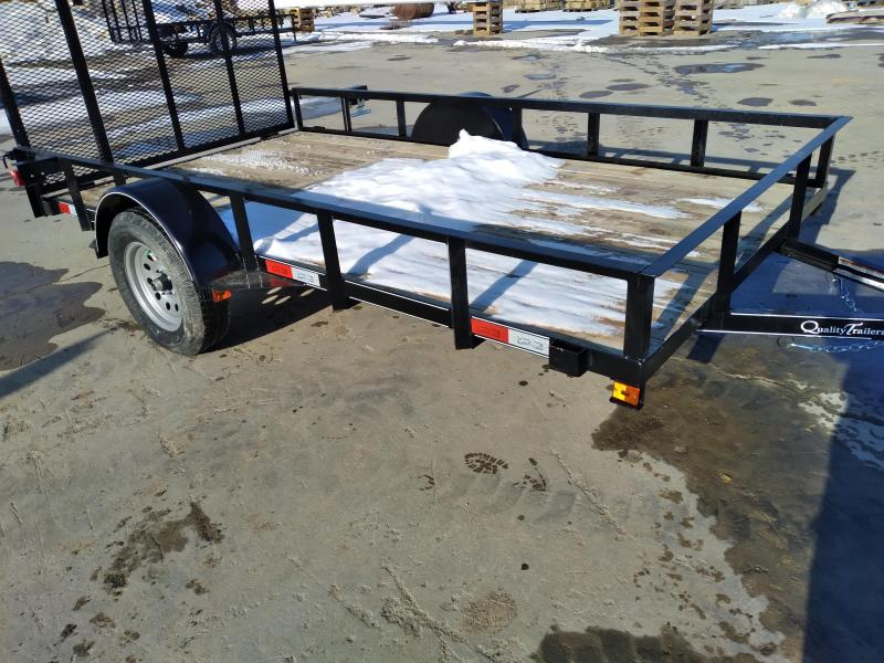 "Quality Trailers General Duty Single Axle Landscape 12'X77"" -4' Landscape Gate -3""x3""x3/16"" Angle Frame -3"" Channel Tongue -2""x2"" Angle Top Rail -15"" Nitrogen Filled Radial Tires"