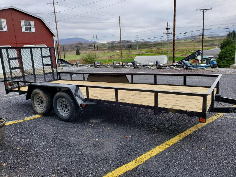 """2020 Quality Trailers Economy Tandem Axle Utility Trailer 18'- 7K GVWR- 77"""" Between Fenders- 3""""x3""""x3/16"""" Angle Frame- 2""""x2""""x1/8"""" Top Rail- 4' Rear Gate- 4"""" Channel Tongue- 2 5/16"""" Coupler- 15"""" Nitrogen Filled Radial Tires"""