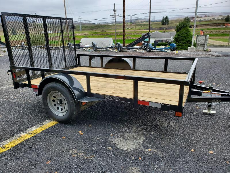"""2021 Quality Trailers 10'x77"""" Pro Grade Utility- 4' Rear Spring Assist Gate- 3""""x3""""x3/16"""" Angle Frame- 2""""x2""""x1/8"""" Tube Top Railing- LED Lights- Nitrogen Filled Radial Tires- 3"""" Channel Tongue"""
