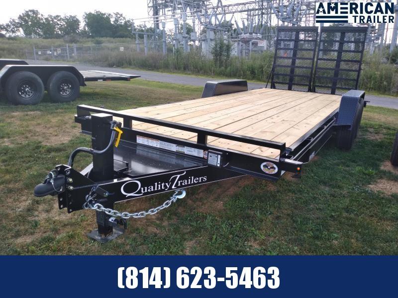 Quality Trailers Pro Grade Equipment 20' - 15,0000 GVWR - 5' Split Gate Ramp