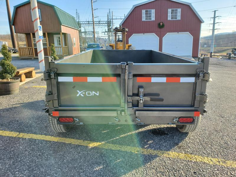 "X-On Low Profile Dump Trailer - 60""x10' - 7K GVWR - 18"" Sides - 3-Way Rear Gate"