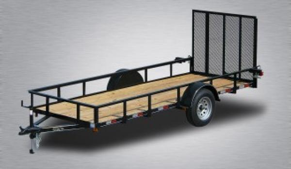 General Duty Single Axle Landscape 12 X77 Mesh Sides 4 Landscape Gate 3 x3 x3 16 Angle Frame 3 Channel Tongue 2 x2 Angle Top Rail 15 Nitrogen Filled Radial Tires