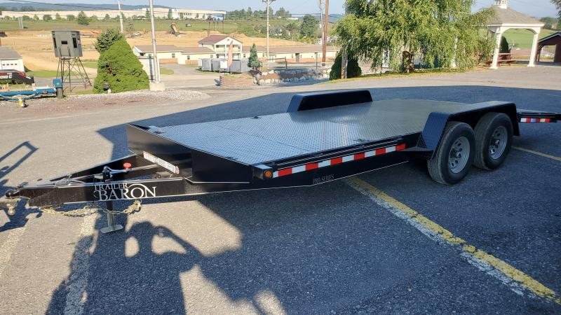 Trailer Barron Pro Grade Diamond Deck Car Hauler 20 10K 5 Punched Surface Ramps 6 x2 Tube Frame Tongue 4 Dovetail 6 D Rings Stake Pockets With Rubrail Heavy Duty Fenders 15 10 Ply Nitrogen Filled Radial Tires