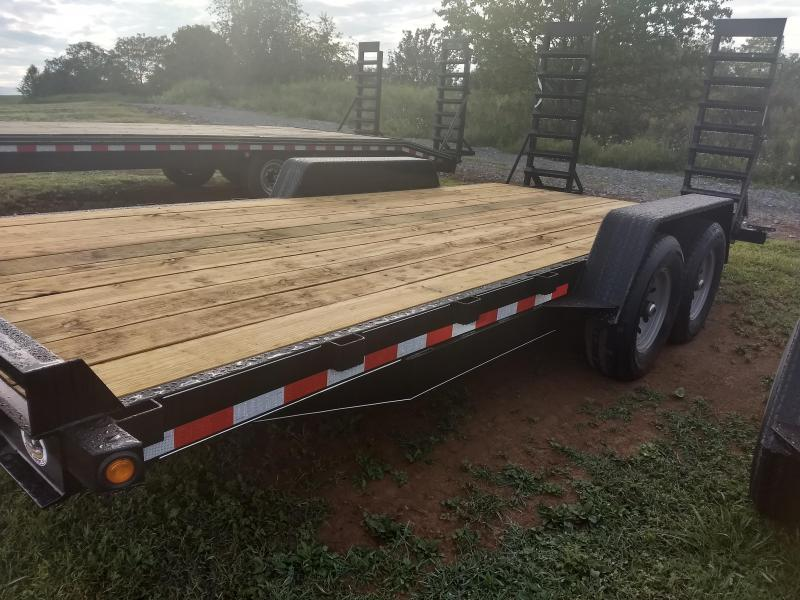 Trailer Baron General Duty Equipment Trailer - 18' - 14K GVWR 6 Channel Frame 3 Channel Cross Members 5 Swing Up Ramps 2 5 16 Adjustable Coupler 7K Dexter Axles 15 8 Ply Nitrogen Filled Radial Tires