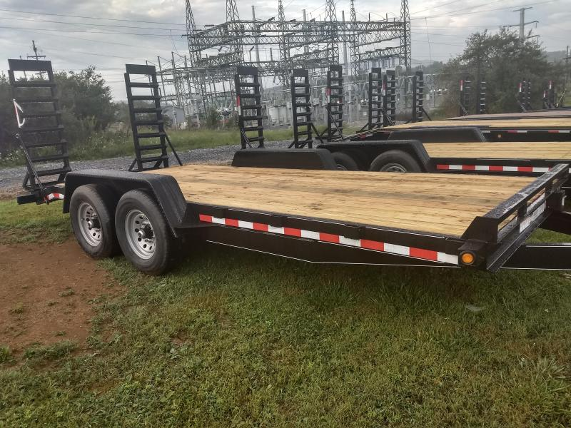 "2021 Quality Trailers 18'x82"" General Duty Equipment Trailer- 6"" Channel Frame- 3"" Channel Cross Members- 5' Swing-Up Ramps- 2 5/16"" Adjustable Coupler- 7K Dexter Axles- 15"" 8 Ply Nitrogen Filled Radial Tires"