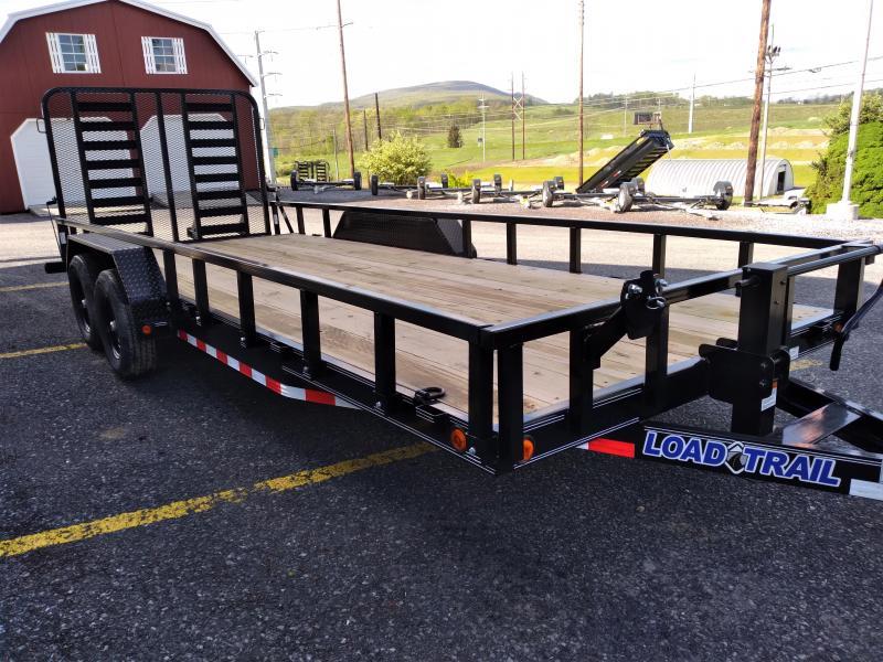 2021 Load Trail Tandem Car Trailer / 83x20 / 9990 GVWR / Split Rear Gate