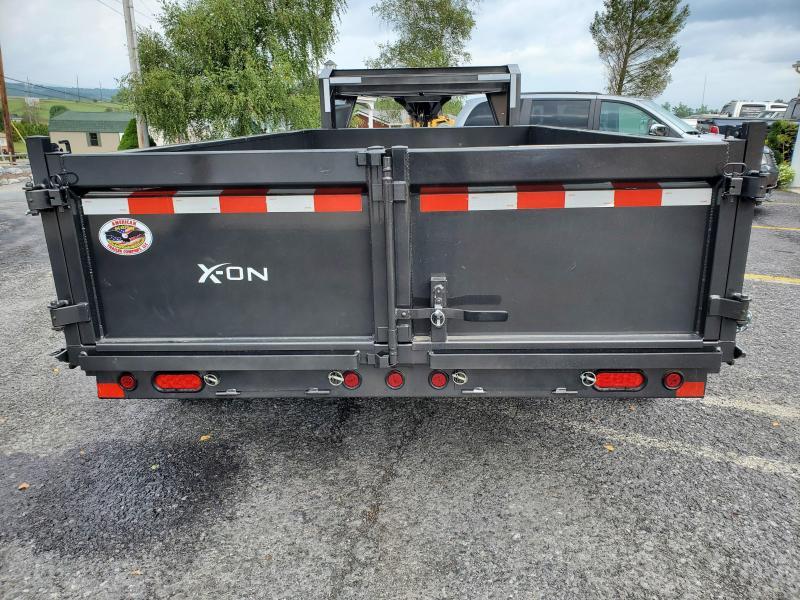 """2020 X-On Low Profile Dump Trailer- 83""""x14' 14K -Scissor Lift -7 Gauge Floor -6"""" I-Beam Frame -5' Slide In Ramps --10K Drop Leg Jack -Tarp Kit Included -16"""" Radial Tires- 10 PLY Load Range E"""