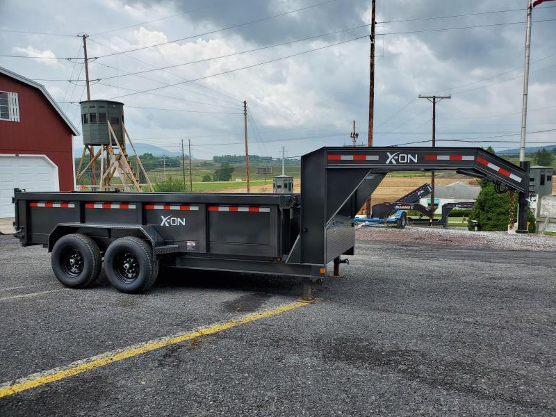"2020 X-On Low Profile Dump Trailer- 83""x14' 14K -Scissor Lift -7 Gauge Floor -6"" I-Beam Frame -5' Slide In Ramps --10K Drop Leg Jack -Tarp Kit Included -16"" Radial Tires- 10 PLY Load Range E"