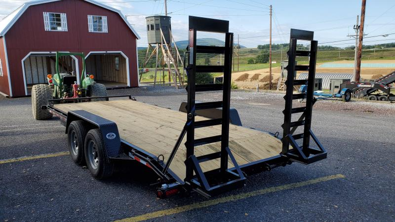Trailer Barron Pro Grade Equipment 18 10K 5 Swing Up Ramps 6 Channel Frame 5 Tongue Adjustable Coupler 12K Drop Leg Jack Tool Tray With Lockable Lid 2 Dovetail LED Lights 15 8 Ply Nitrogen Filled Radial Tires