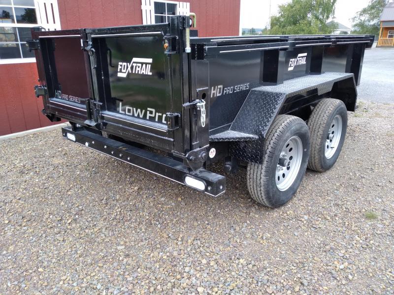 2022 Fox Trail 7200 Series 6' Wide Tandem Axle 10' Dump Trailer