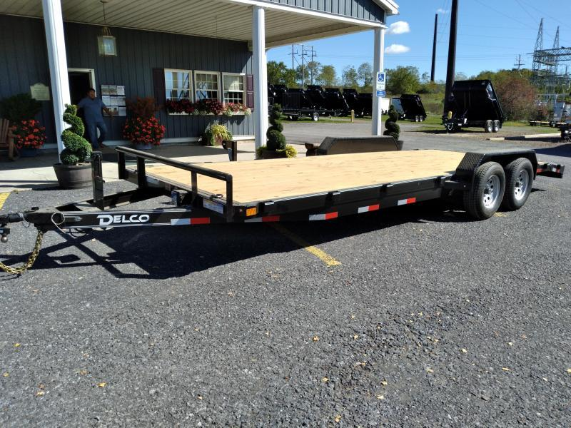 2022 Delco Trailers Car Hauler / 22' / 12000 GVWR / Removable Fenders