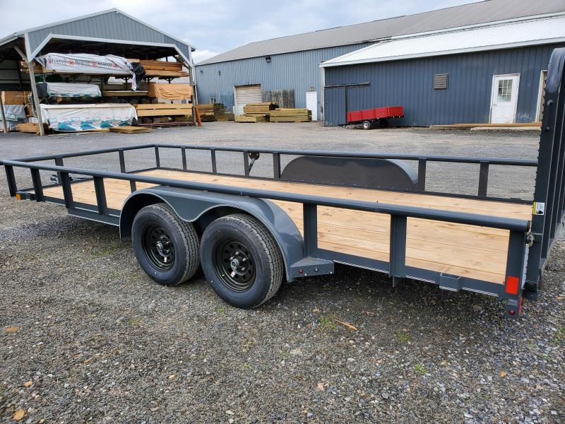 """2020 X-On Landscape Utility Trailer- 4"""" CHANNEL FRAME COUPLER: 2"""" A-FRAME COUPLER (7K) TOP RAIL: 2"""" X 2"""" ANGLE TOP JACK: 5K TOP-WIND, FLIP JACK: 24"""" CENTER CROSSMEMBERS – 2""""X3""""X3/16"""" ANGLE: SMOOTH TEARDROP FENDERS: STRAIGHT DECK 4' SPRING"""