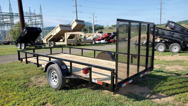 Trailer Baron Pro Grade Utility Trailer 77x12 /  3 x3 x3 16 Angle Frame 2 x2 x1 8 Tube Top Railing 3 Channel Tongue 4 Spring Assist Rear Gate 15 Nitrogen Filled Radial Tires LED Lights