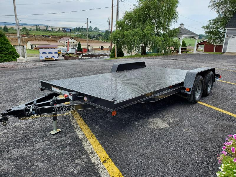 "Economy Diamond Deck Car Hauler 18' 7K -5' Self Storing Ramps -4"" Channel Frame & Tongue -4' Dovetail -6 D-Rings on Floor -Heavy Duty Fenders -15"" Nitrogen Filled Radial Tires"