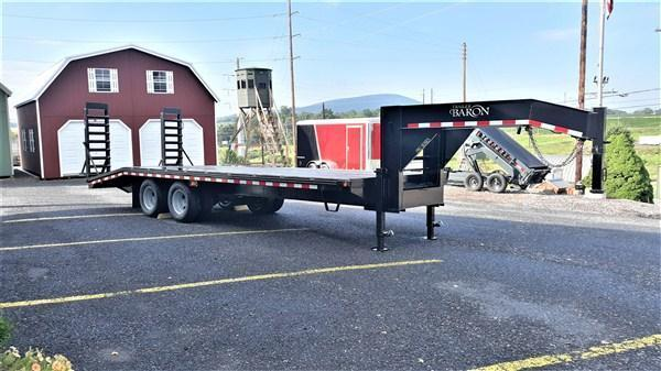 Quality Trailers Pro Grade Gooseneck Deckover 30 25K Pop Up Dovetail 5 Swing Up Ramps 12 I Beam Frame and Neck Dual 12000 Jacks 10000 Oil Bath Axles 16 Dual Nitrogen Filled Radial Tires