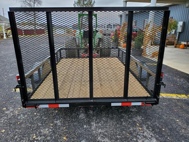 "Trailer Baron 10'x77"" Pro Grade Utility- 4' Rear Spring Assist Gate- 3""x3""x3/16"" Angle Frame- 2""x2""x1/8"" Tube Top Railing- LED Lights- Nitrogen Filled Radial Tires- 3"" Channel Tongue"