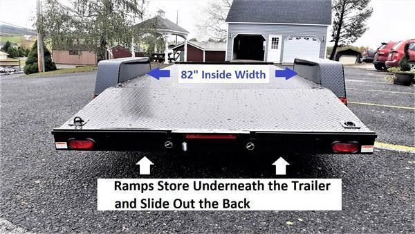 """Quality Trailers General Duty Diamond Deck Car Hauler 20' 10K -5' Self Storing Ramps -5"""" Channel Frame -5"""" Channel Tongue -4' Dovetail -6 D-Rings On Floor -Heavy Duty Fenders -15"""" Nitrogen Filled Radial Tires"""