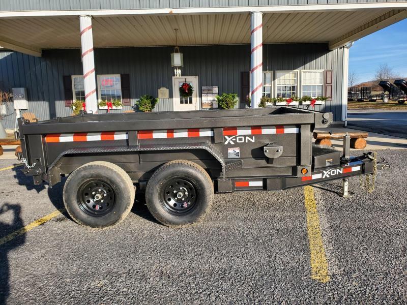 "X-On Low Profile Dump Trailer - 60""x10' - 7K GVWR - 18"" Sides - 3-Way Rear Gate"