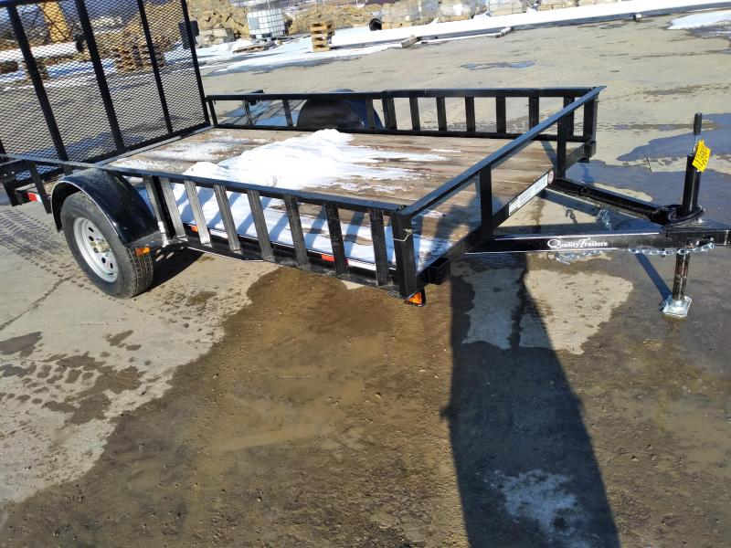 "Quality Trailers General Duty Single Axle Landscape 12'X77"" -Optional ATV Rails -4' Landscape Gate -3""x3""x3/16"" Angle Frame -3"" Channel Tongue -2""x2"" Angle Top Rail -15"" Nitrogen Filled Radial Tires"