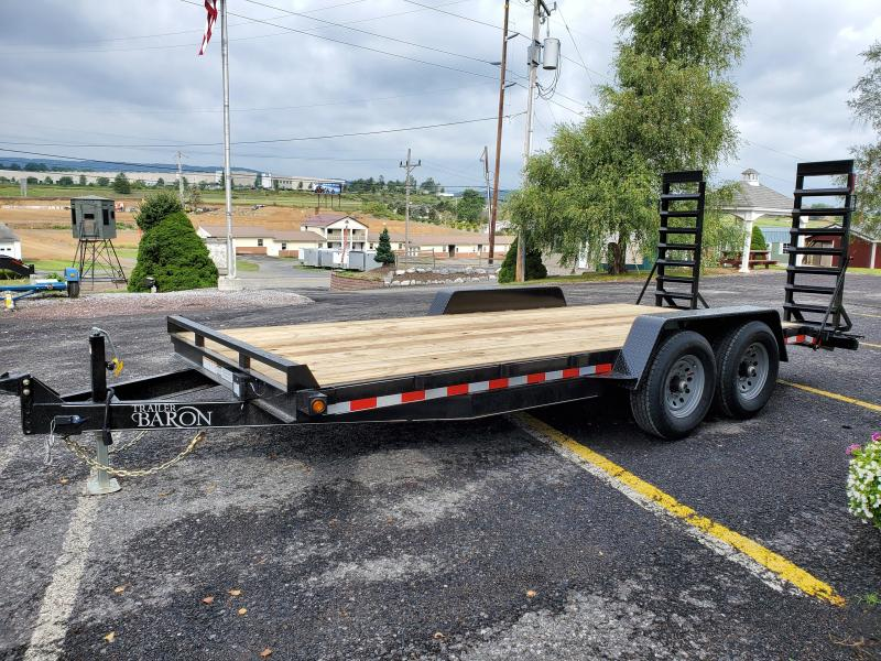 Trailer Barron General Duty Equipment 18 12K 5 Swing Up Ramps 6 Channel Frame 6 Tongue Adjustable Coupler 7K Drop Leg Jack 2 Dovetail Sealed Beam Lights 16 10 Ply Nitrogen Filled Radial Tires