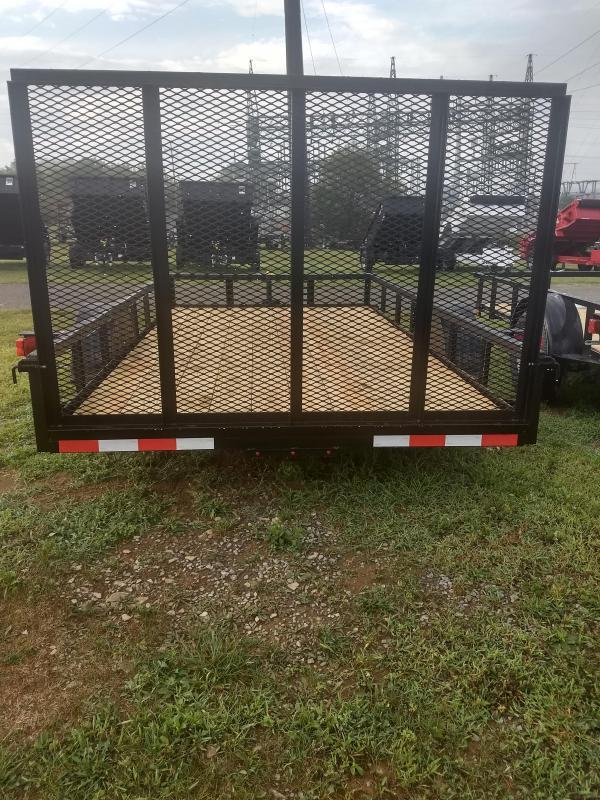 """Quality Trailers General Duty Single Axle Landscape 12'X77"""" -4' Landscape Gate -3""""x3""""x3/16"""" Angle Frame -3"""" Channel Tongue -2""""x2"""" Angle Top Rail -15"""" Nitrogen Filled Radial Tires"""