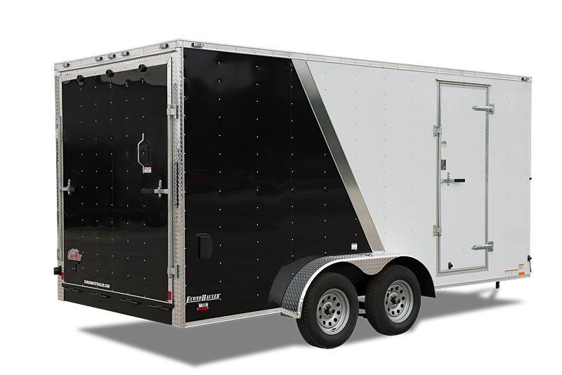 "2022 Cargo Mate E-Series 7x14 W/ 36"" upgrade RV Door 6"" additional Height Rear Ramp Door Enclosed Cargo Trailer"