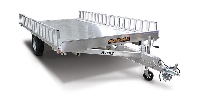 2021 Aluma A8812 7X12 3 Place Quad W/ Ramp ATV Trailer