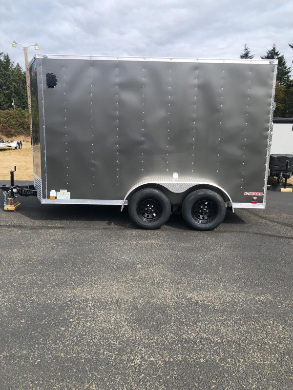 "2022 Cargo Mate E-Series 6x12 Tandem W/ 6"" additional Height, Rear Ramp Door, 1 Pair Stabilizer Jacks, D-Rings, 36"" RV Door Upgrade Enclosed Cargo Trailer"