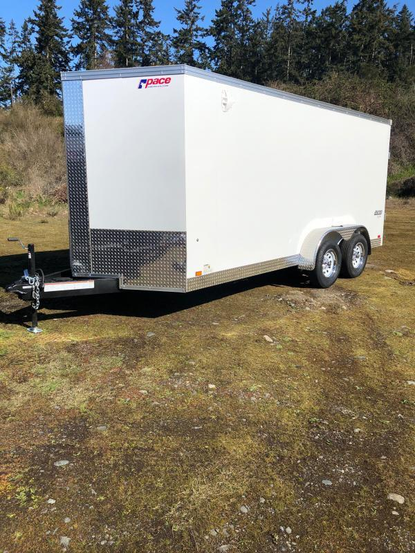"2022 Pace American Journey 7x16 W/ 6"" Additional Height Enclosed Cargo Trailer"