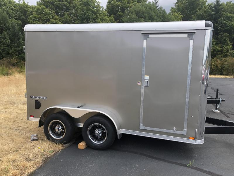 "2021 Pace American 7X12 Cargo Sport W/ 6"" additional Height Rivetless Sides High performance interior Enclosed Cargo Trailer"