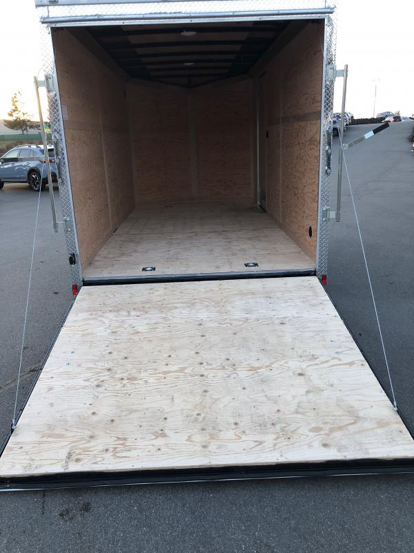 """2021 Cargo Mate E-Series 7x14 W/6"""" additional Height Rear Ramp Door Enclosed Cargo Trailer"""