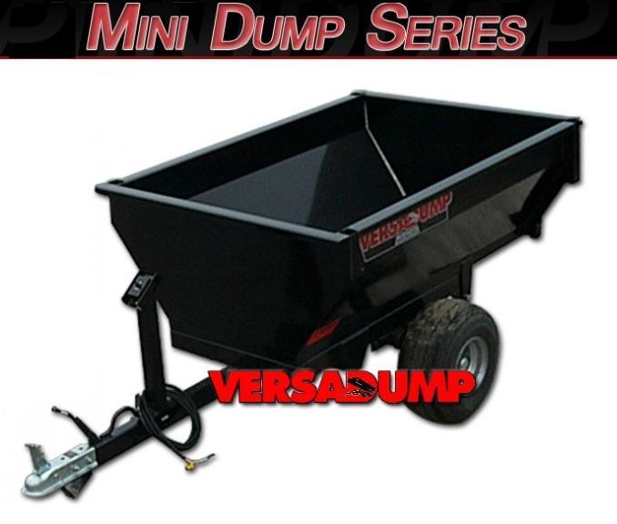 2021 Midsota Mini Dump Series Dump Trailer Tandem Axle W/ Battery Fender Flares and Light Kit