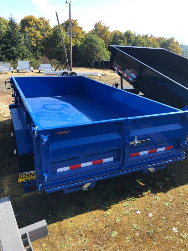 2021 Midsota HV-14 Dump Trailer W/Swing Swing Side Door, Hydraulic Tongue Jack, Pallet Fork Holders, Rolled Tarp, Solar Charger, Aluminum Wheels incl. Spare