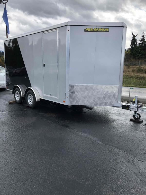 2021 Aluma AE714TA 7.5x14 W/Sport PKG Enclosed Cargo Trailer
